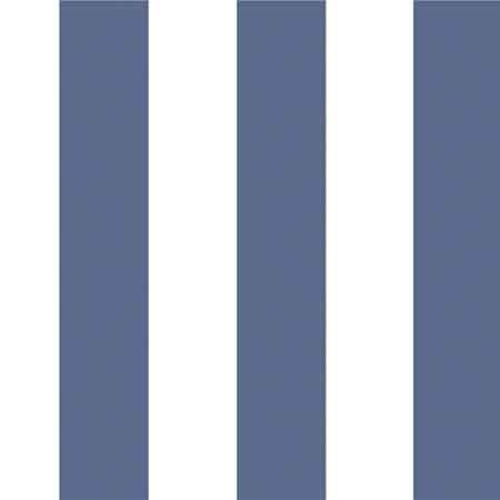 Blue and white glastonbury stripe wallpaper
