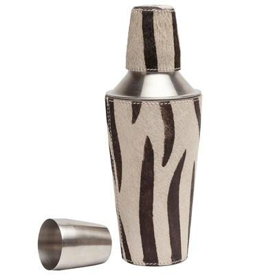 Modern Cocktail Shaker and poodle browmley brown zebra cocktail shaker