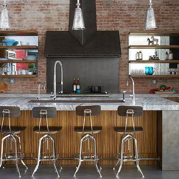 Kitchen Island Ideas Brick exposed brick walls - transitional - kitchen - thompson custom homes