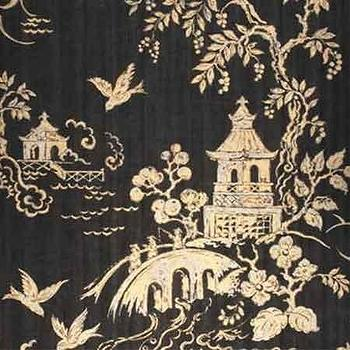 wallcovering wallpaper shantung silhouette print in