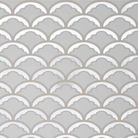 Silver Mount Temple Foil Wallpaper