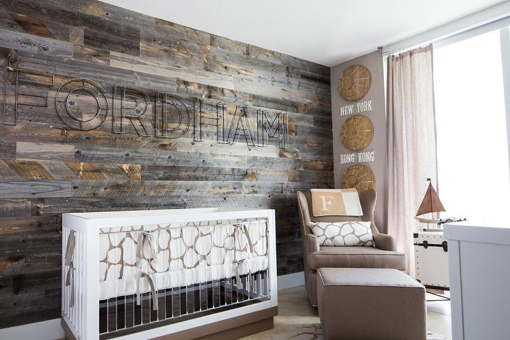 This Gender Neutral Design Fuses Modern And Rustic Elements With A Subtle Travel Theme Creating Perfect Space For Little One