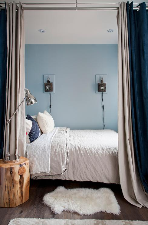 Gray And Blue Curtains Design Ideas