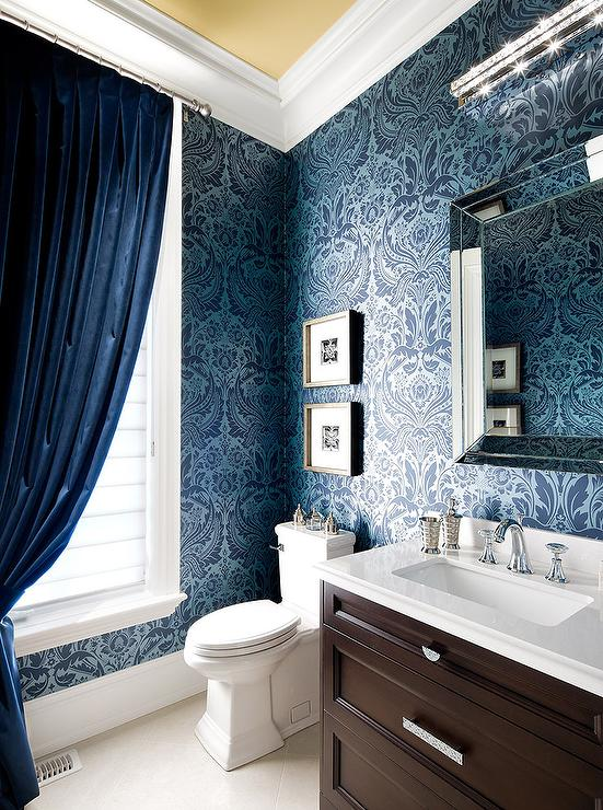 Blue and brown bathroom design ideas for Blue and silver bathroom accessories