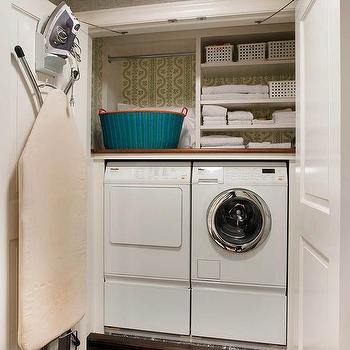 Good Closet Laundry Room With Ironing Board