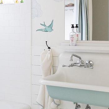 Design Sponge · Turquoise Blue Bathroom Sink
