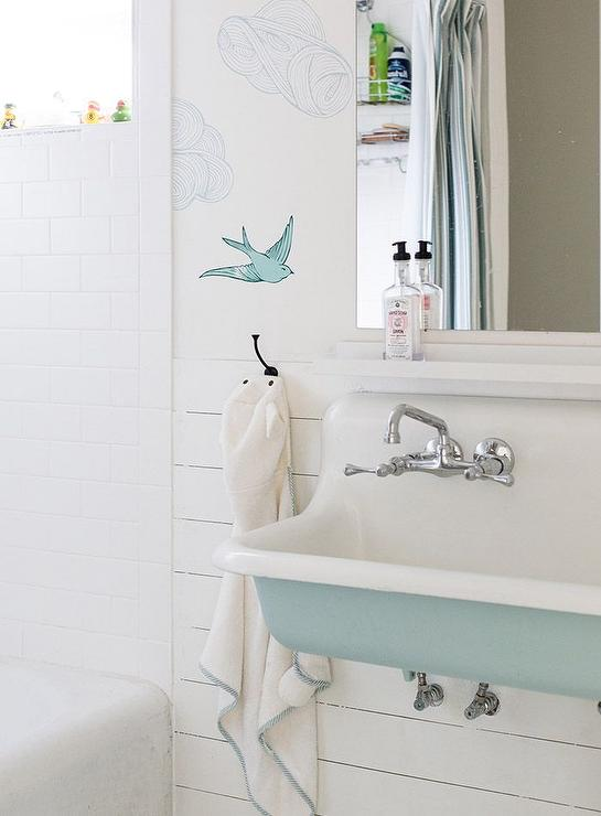 Turquoise Blue Bathroom Sink - Cottage - Bathroom