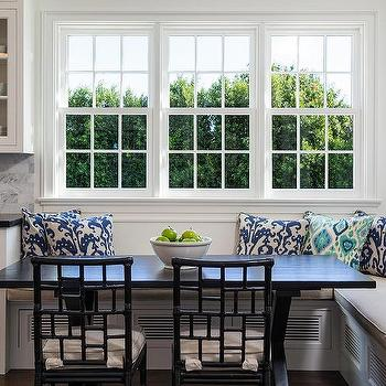 L shaped kitchen design ideas l shaped banquette with black x shaped dining table and black rattan dining chairs workwithnaturefo