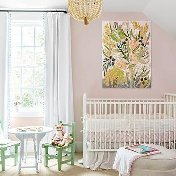 Boy Nursery With Pb Teen Pom Pom Blackout Drapes