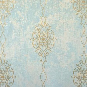 Vintage Blue White Kravet Wallpapers