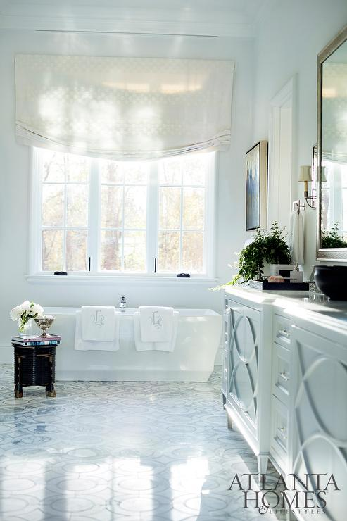 Elegant Bathroom Vanity With Overlay Panels Transitional