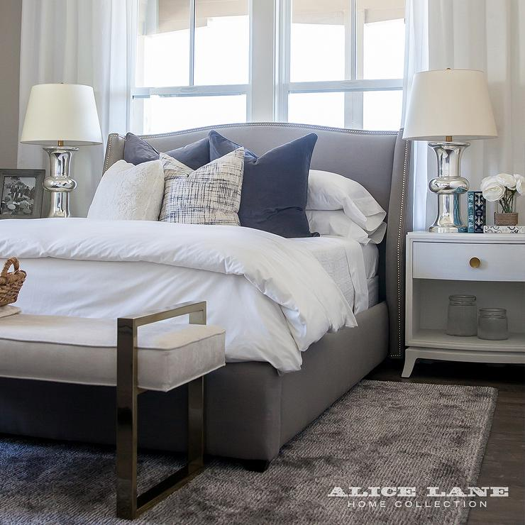 Interior design inspiration photos by alice lane home Bench in front of bed