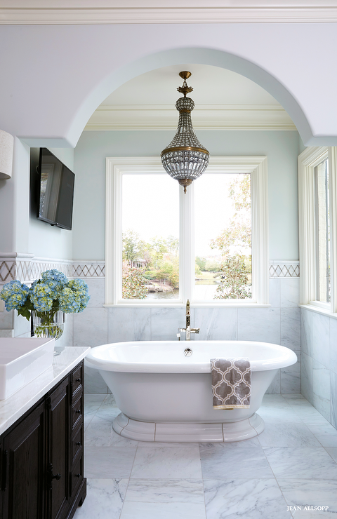 Kohler vintage soaking tub with 19th c french empire Empire bathrooms