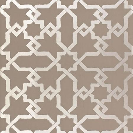 Gold And Taupe Hicks Hexagon Wallpaper