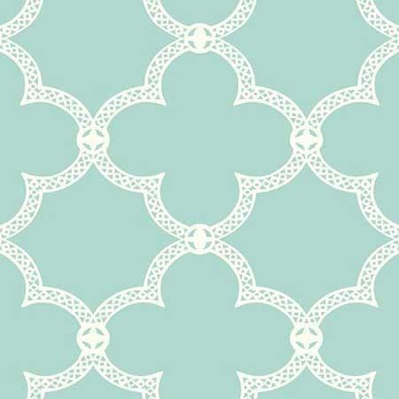 Trellis Wallpaper In Off White And Yellow By Antonina