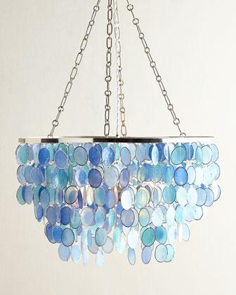 Blue mariana 3 light chandelier aloadofball Gallery