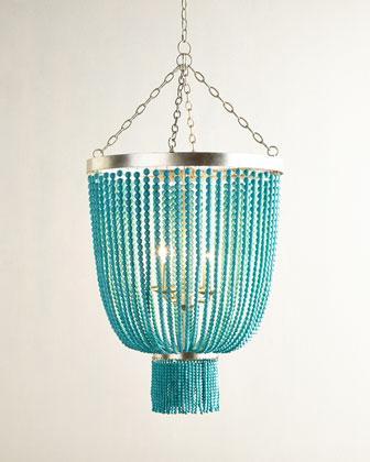 Beaded 4 light chandelier turquoise beaded 4 light chandelier aloadofball Gallery