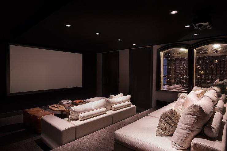Home theater contemporary media room hgtv for House plans with theater room