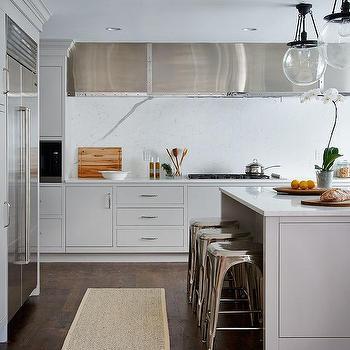 Small Kitchen Appliances Garage With Aluminum Door