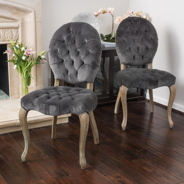christopher knight home marianne grey velvet dining chair