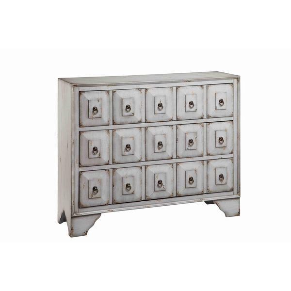 Ming Apothecary CD DVD Chest W 9 Drawers In Distressed Black