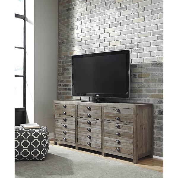 Grayish Brown Extra Large TV Stand