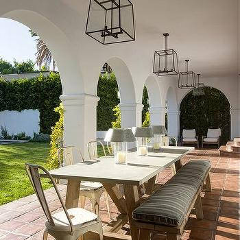 Covered Patio With Arched Doorways