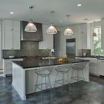 Dark Gray Kitchen Backsplash