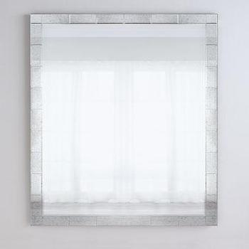 Grooved silver framed wall mirror for Silver framed floor mirror