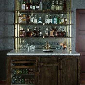 Bar Backsplash Ideas wet bar mirror backsplash design ideas