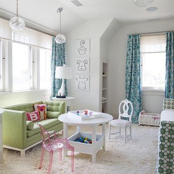bedroom play ideas. Blue And Green Girl Bedroom With Play Space Girls Room Design Ideas