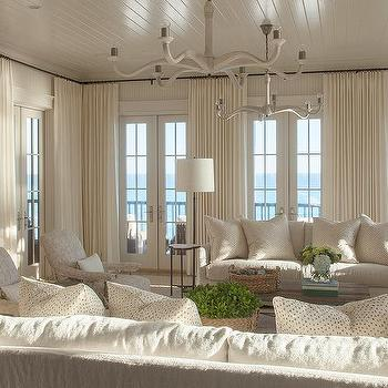 Living Room Beadboard Ceiling Design Ideas