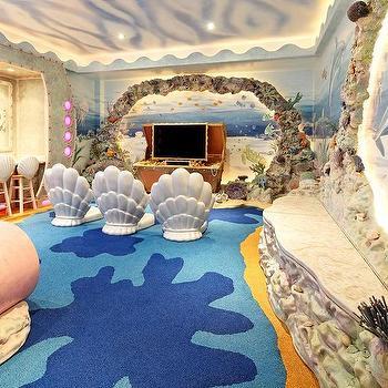 interesting sea inspired bedroom decor ideas | Media Room design, decor, photos, pictures, ideas ...