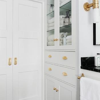 Bathroom Pocket Doors With Brass Hardware