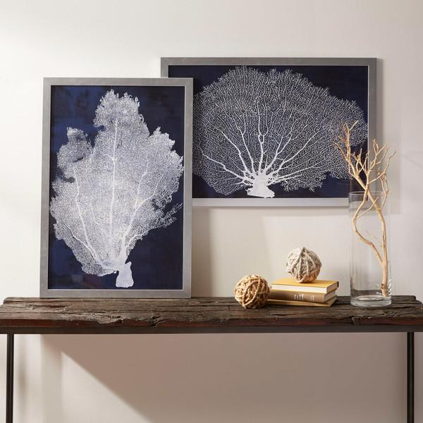 Navy Coral Framed Print Collection