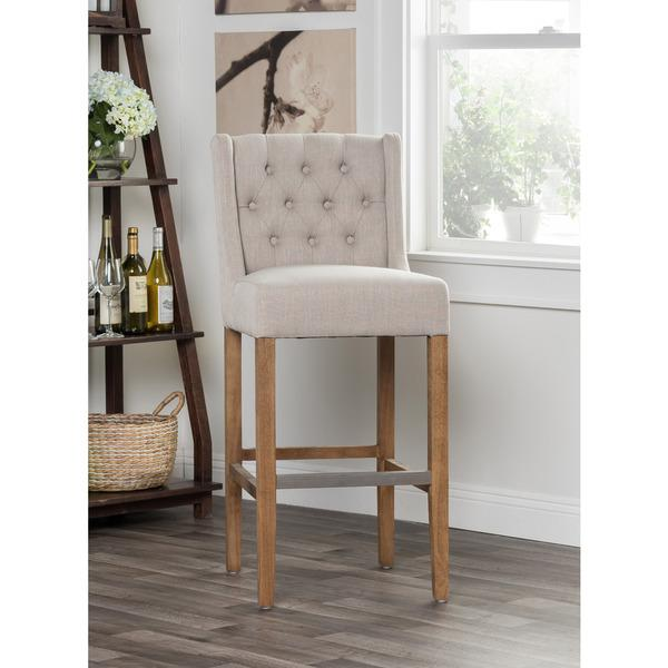 Magnificent Kosas Home Cayle French Beige Bar Stool Unemploymentrelief Wooden Chair Designs For Living Room Unemploymentrelieforg