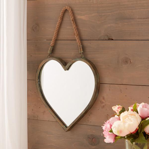 Heart Shaped 5 Clip Wood Wall Photo Frame