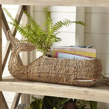 Popular Woven Whale Shaped Basket - Products, bookmarks, design  HJ91