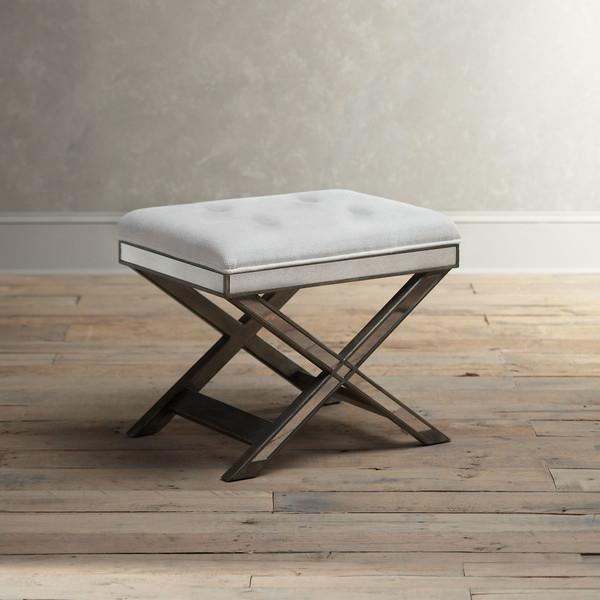 Groovy Pewter Bradford Vanity Stool Dailytribune Chair Design For Home Dailytribuneorg