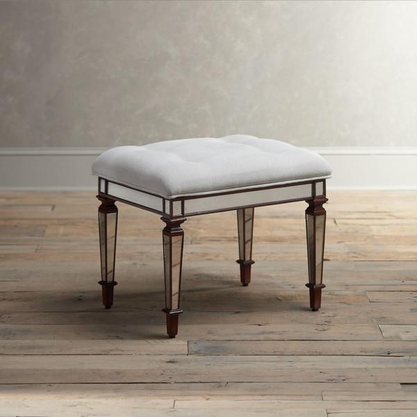 Grey Bradford Vanity Seat