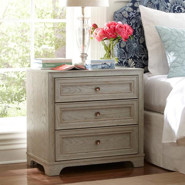 Whitewash Orlando Nightstand