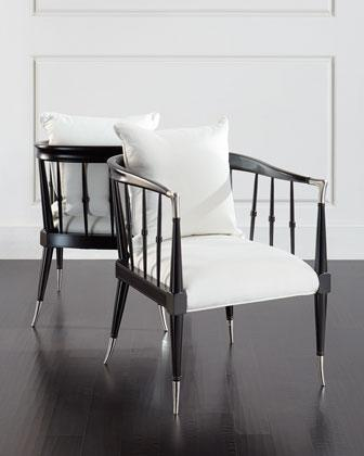 Black And White Acker Accent Chair