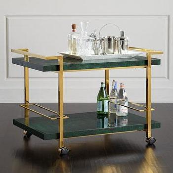 z gallerie bar cart coffee table jolie green and brass bar cart delaney