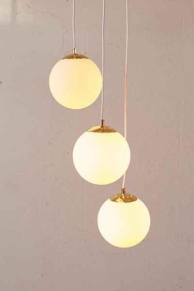 Luna chrome 3 light glass globe chandelier white globe chandelier aloadofball Gallery