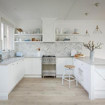 Light Gray Caesarstone Countertops Transitional Kitchen