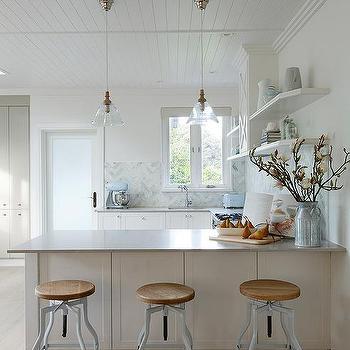Caesarstone Clamshell Countertops Transitional Kitchen