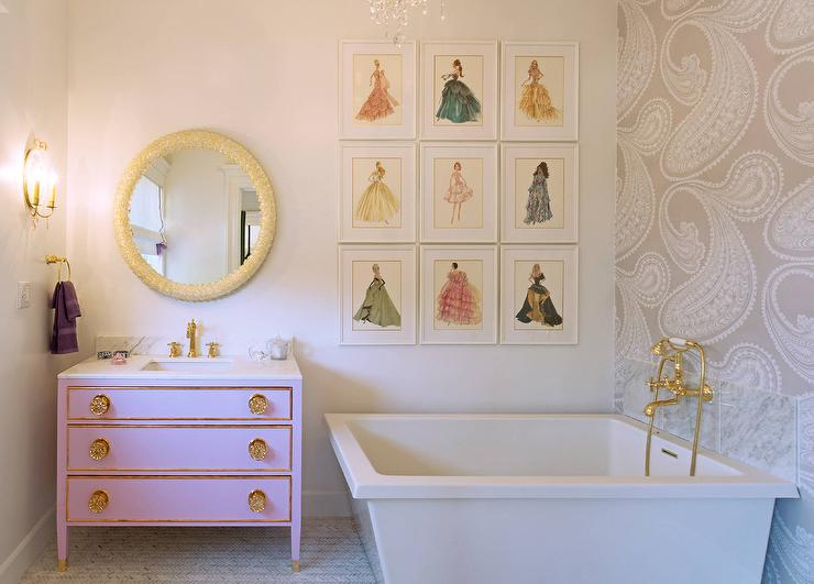 Pink Barbie Bathroom Design Contemporary Bathroom