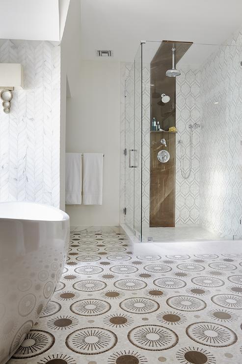 Walker Zanger Zephyr Tiles Contemporary Bathroom