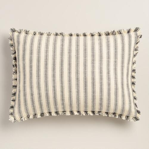 Blue And White Oversized Lumbar Throw Pillow