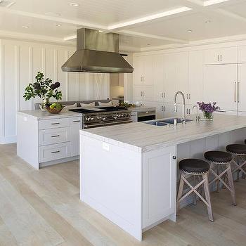 Parallel Kitchen Islands Design Ideas